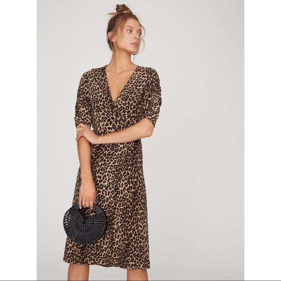 06bc9ef3242b Faithfull the Brand Dresses & Skirts - Faithfull The Brand Anne Marie  Leopard Midi Dress